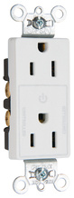 Decorator 15A Half-Controlled Plug Load Duplex Receptacle, White