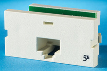 Series II, one-port Clarity 5E,T568A/B, 180 degree, Wiremold Ivory