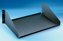 Equipment Shelf - 5.25 H x 17.25 in W x 12.13 in D - black