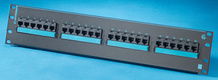 Clarity 6 24-port Category 6 patch panel - six-port modules - 19 in x 3.5 in