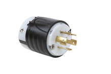 20 Amp NEMA Plug L1620 - Black Back, White Front Body