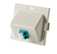 Series II Module, 1-LC Duplex (2 Fibers) Multimode, Aqua adapters, 45 degree exit
