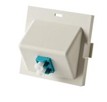 Series II Module, 1-LC Duplex (2 Fibers) Multimode, Aqua adapters, 45 degree exit
