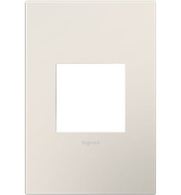 adorne® Satin Light Almond One-Gang Screwless Wall Plate