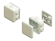 PLEXO4KIT - GRAY PLASTIC (2D,4W,4L)Twist-on Junction Box Kit