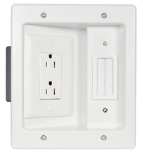 In-Wall TV Connection Kit White