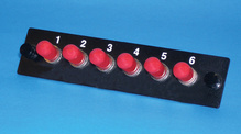 6-ST single mode adapters with ceramic alignment sleeves
