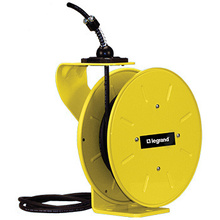 1200 Series Cable Reel with Flying Lead  20 Amp, 12 AWG, 50 Feet  For Lift/Drag Applications