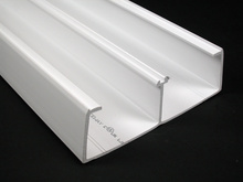 Wiremold 5400 Series Two Compartment Raceway Base, Ivory