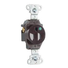 Hospital Grade Single Receptacles Tamper Resistant, Back & Side Wire, 15A, 125V, Brown