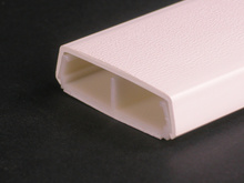 Wiremold 2300 Series Divided Raceway Base and Cover, Ivory