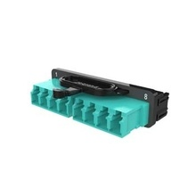 Infinium High Density (HD) M8 HD8FP Adapter Panel, 2 LC Quad, Aqua