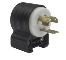 15 Amp Angle Plug - Black Back Body, White Front Body