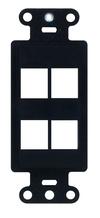 4-Port Decorator Outlet Strap, Black