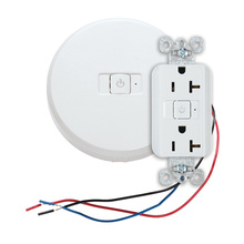 20-amp White, dual controlled receptacle