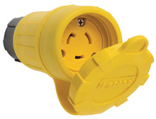 20A Turnlok® Watertight Connector, NEMA 4X/6P, Yellow