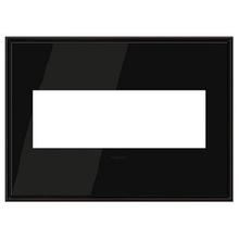adorne® Black Nickel Three-Gang Screwless Wall Plate