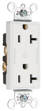 Heavy-Duty Decorator Spec Grade 20A Plug Load Controllable Receptacle, White