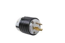 20 Amp NEMA Plug L920 - Black Back, White Front Body