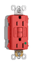 PlugTail® Hospital-Grade 15A Self-Test GFCI Receptacle, Red