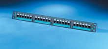 Clarity 6 24-port Category 6 patch panel - six-port modules - 19 in x 1.75 in