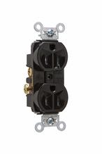 Tamper-Resistant Hard Use Spec Grade Receptacle, Back & Side Wire, 15A, 125V, Black