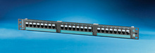 Clarity 6 24-port Category 6 patch panel - eight-port modules - 19 in x 1.75 in