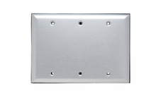 3 Gang Blank Aluminum Cover with Gasket and Screws