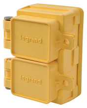 65W47DPLX Turnlok Watertight Duplex Receptacle, Yellow