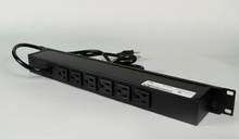 Rack Mount 120V/15A/6 rear O/L /lighted switch/15' cord