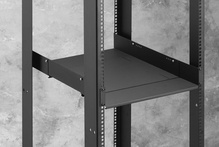 Adjustable Equipment Shelf -  3.34 in H x 17.50 in  W x 27 in  - 32 in D