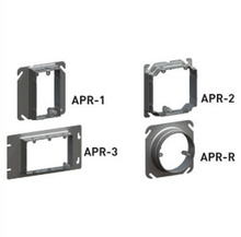 1 5/8 GANG ADJ. 5/8'' - 1 1/4'' PLASTER RING BOX OF 25 [FP211051]