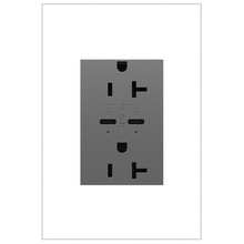 adorne 20A Tamper Resistant Receptacle Ultra Fast 30W Power Delivery USB Magnesium