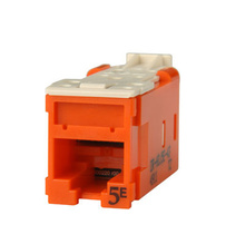 Clarity High Density Jack (HDJ) CAT5E, T568A/B, Orange