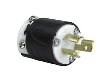 15 Amp NEMA L715 Plug - Black Back, White Front Body