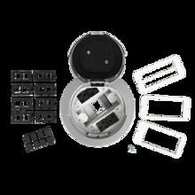 6AT Prewired Evolution™ Poke Thru Device, Flush Style Cover, Aluminum