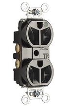 Hospital-Grade Tamper-Resistant Compact Design Receptacle, Back & Side Wire, 20A, 125V, Black