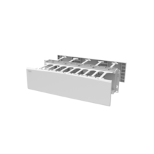Horizontal Cable Manager, Double Sided, 3 rack unit, White