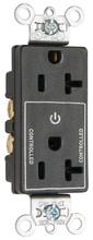 Decorator 20A Half-Controlled Plug Load Duplex Receptacle, Black