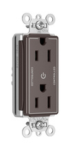 PlugTail® Heavy-Duty Spec Grade Plug Load Controllable Receptacle, 15A, 125V, Brown