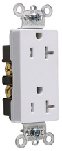 TR26342W Tamper-Resistant Decorator Spec Grade Receptacle,Side Wire Only, 20A, 125V, White