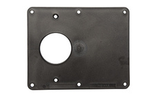 2-Gang 1-1.56 Opening and 1-Blank Cover Plate, Black
