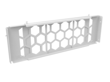 MM20 Horizontal 4-Post Front to Rear Rack Cable Manager - White