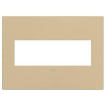 adorne® Golden Sands Three-Gang Screwless Wall Plate