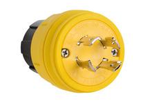 28W77 Watertight,NEMA 4X/6P Locking Plug,Yellow