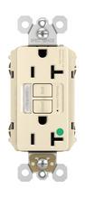 Hospital-Grade Combination Tamper-Resistant 20A Self-Test Night Light/GFCI, Light Almond
