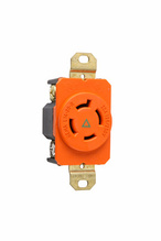 20 Amp NEMA L1420 Single Receptacle, Orange, Isolated Ground