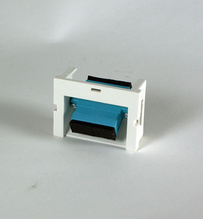 Series II Module, 1-SC Duplex (2 Fibers) Multimode, Aqua adapters, 60 degree exit