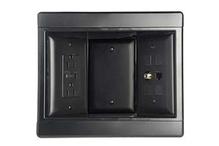 Three-Gang Recessed TV Box Kit, Black
