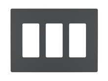 radiant® Three-Gang Screwless Wall Plate